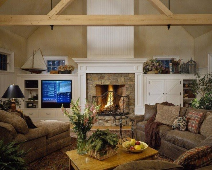 Best Winter Living Room Decoration Ideas 54