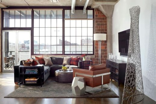 Elegant Loft Style Living Room Design Ideas For Winter 23