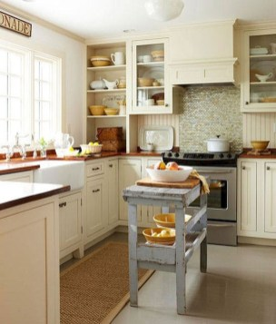 Stylish Rustic Kitchen Apartment Decoration Ideas 26