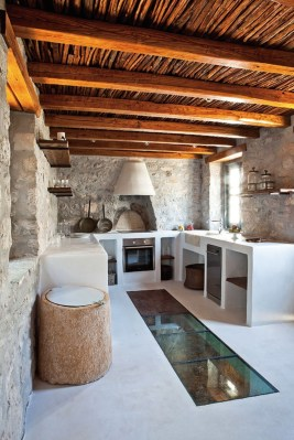 Stylish Rustic Kitchen Apartment Decoration Ideas 42