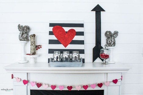 Totally Cool Valentine Mantel Decoration Ideas 15