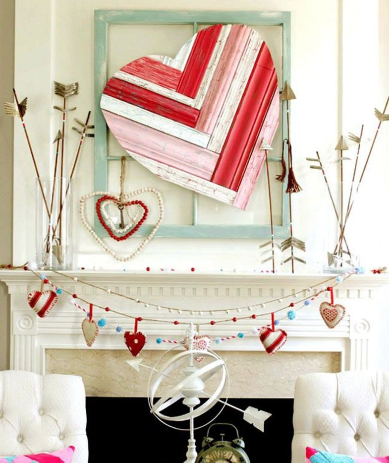 Totally Cool Valentine Mantel Decoration Ideas 37