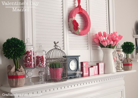 Totally Cool Valentine Mantel Decoration Ideas 42