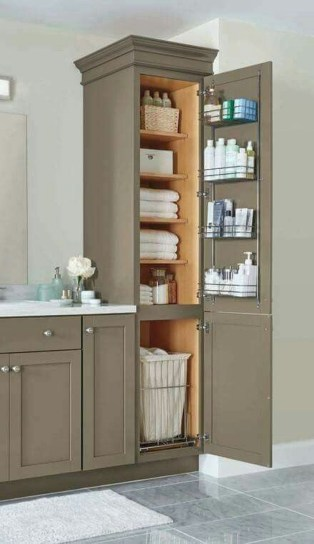 Brilliant Small Bathroom Storage Organization Ideas 46