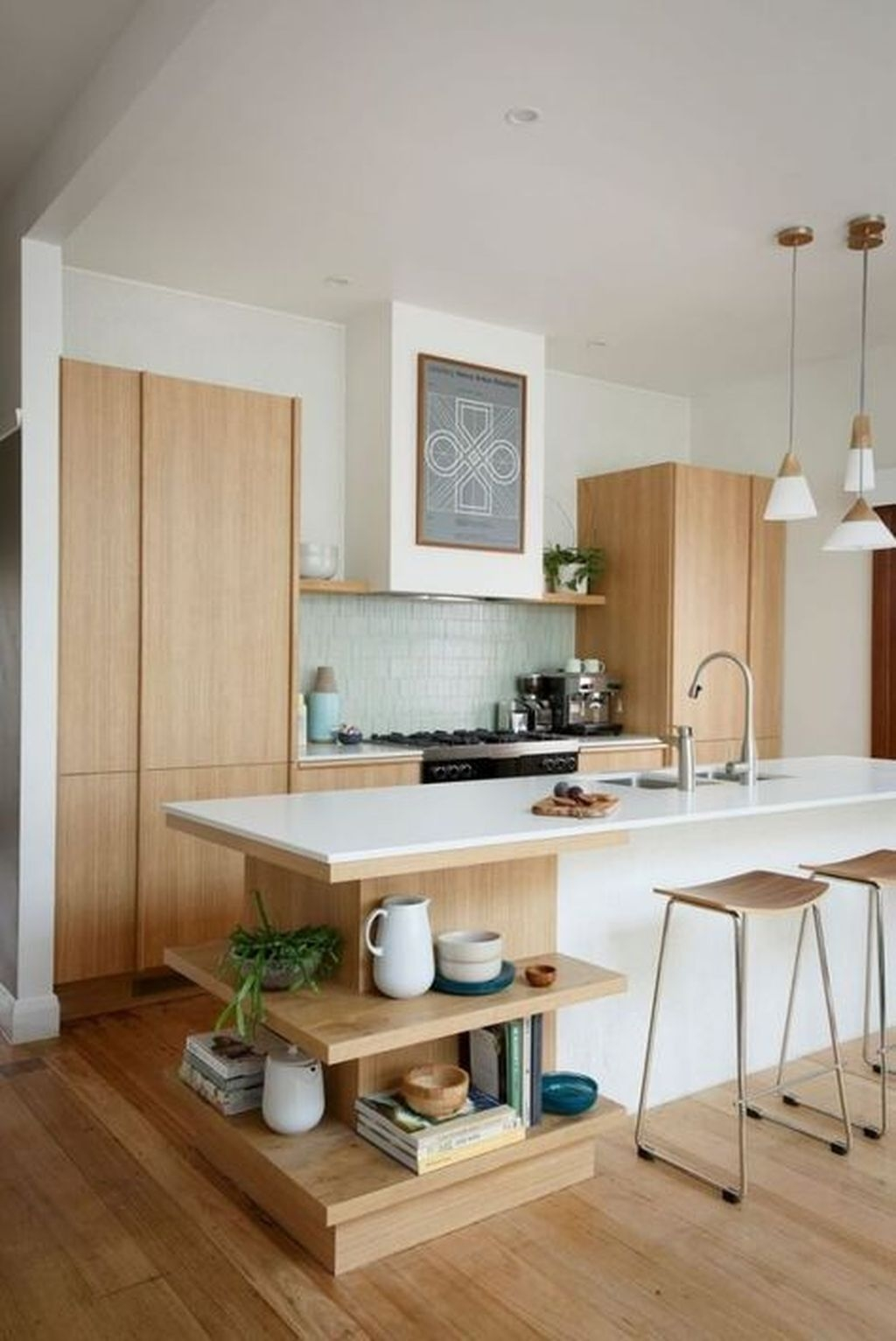 Cool Modern Mid Century Kitchen Decoration Ideas 35