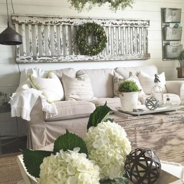 Cute Shabby Chic Farmhouse Living Room Decor Ideas 17