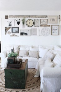 Cute Shabby Chic Farmhouse Living Room Decor Ideas 27