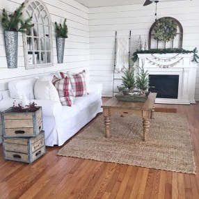 Cute Shabby Chic Farmhouse Living Room Decor Ideas 42