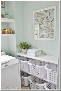 Totally Inspiring Small Functional Laundry Room Ideas 46