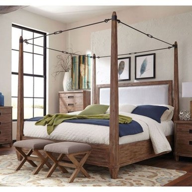 Awesome Canopy Bed With Sparkling Lights Decor Ideas 37