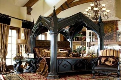 Awesome Canopy Bed With Sparkling Lights Decor Ideas 52