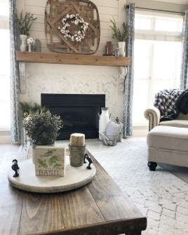 Modern Farmhouse Living Room Decoration Ideas 22