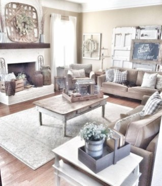 Modern Farmhouse Living Room Decoration Ideas 41