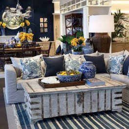 Gorgeous White And Blue Living Room Ideas For Modern Home 19