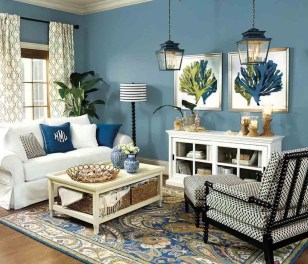 Gorgeous White And Blue Living Room Ideas For Modern Home 21