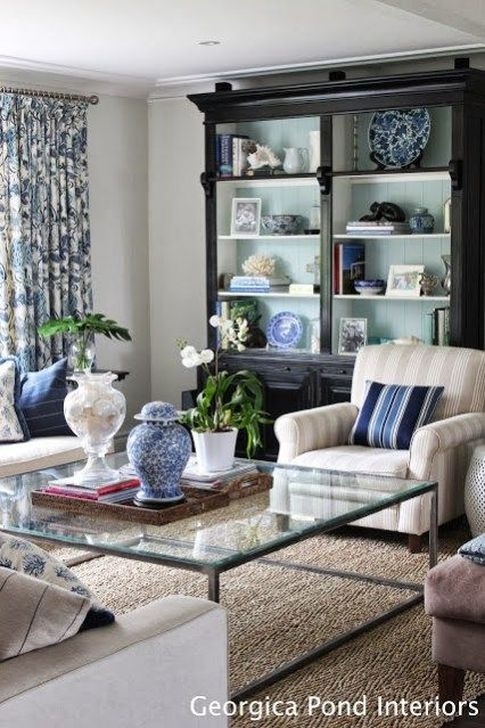 Gorgeous White And Blue Living Room Ideas For Modern Home 27