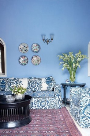 Gorgeous White And Blue Living Room Ideas For Modern Home 33