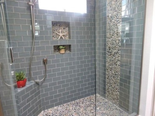 Elegant Farmhouse Shower Tiles Design Ideas14
