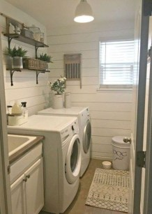 Popular Farmhouse Laundry Room Decorating Ideas21