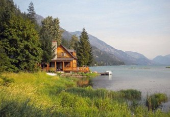 Attractive Lake House Home Design Ideas23