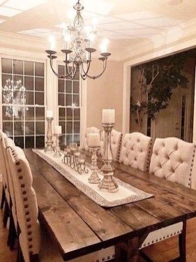 Cute Farmhouse Dining Room Table Ideas07