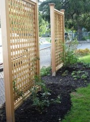 Stylish Wooden Privacy Fence Patio Backyard Landscaping Ideas03