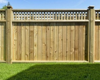 Stylish Wooden Privacy Fence Patio Backyard Landscaping Ideas18