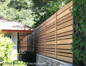 Stylish Wooden Privacy Fence Patio Backyard Landscaping Ideas21