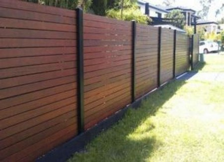 Stylish Wooden Privacy Fence Patio Backyard Landscaping Ideas46