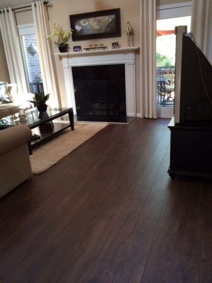 Amazing Dark Hardwood Floors Ideas For Living Room14