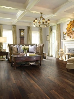 Amazing Dark Hardwood Floors Ideas For Living Room39
