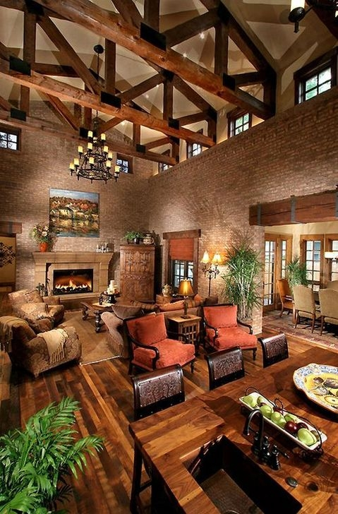 Amazing Living Rooms Design Ideas With Exposed Wooden Beams 32