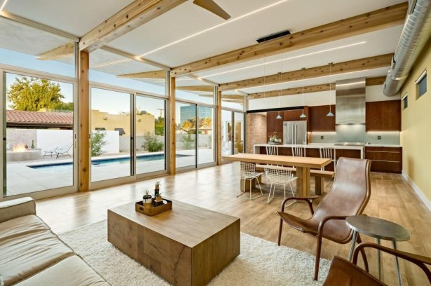 Amazing Living Rooms Design Ideas With Exposed Wooden Beams 38