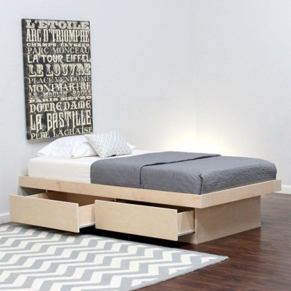 Elegant Platform Bed Design Ideas03