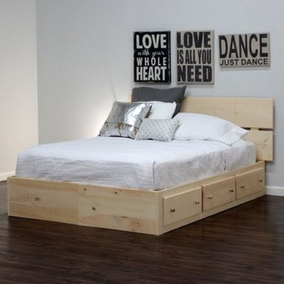 Elegant Platform Bed Design Ideas27