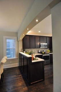 Magnficient Small Kitchens Ideas With Dark Cabinets14