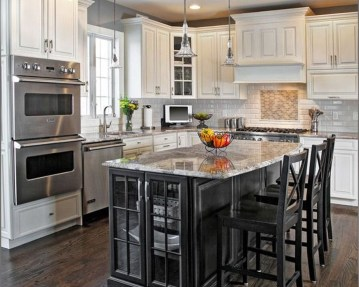 Magnficient Small Kitchens Ideas With Dark Cabinets28