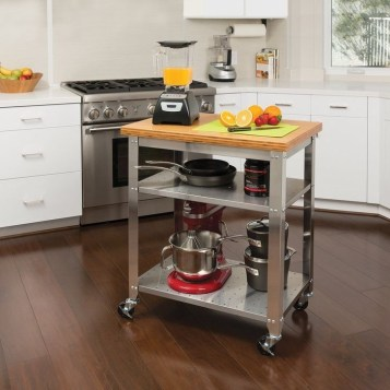 Stunning Stainless Steel Kitchen Tables Ideas01
