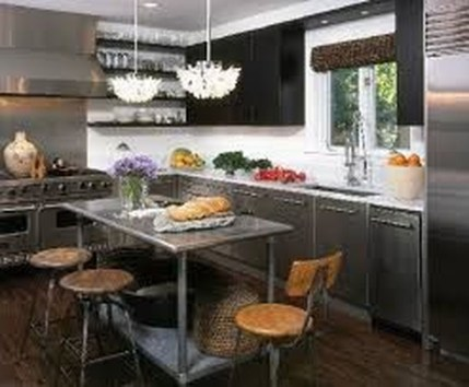 Stunning Stainless Steel Kitchen Tables Ideas06