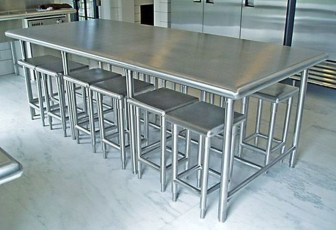Stunning Stainless Steel Kitchen Tables Ideas09