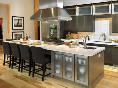 Stunning Stainless Steel Kitchen Tables Ideas38