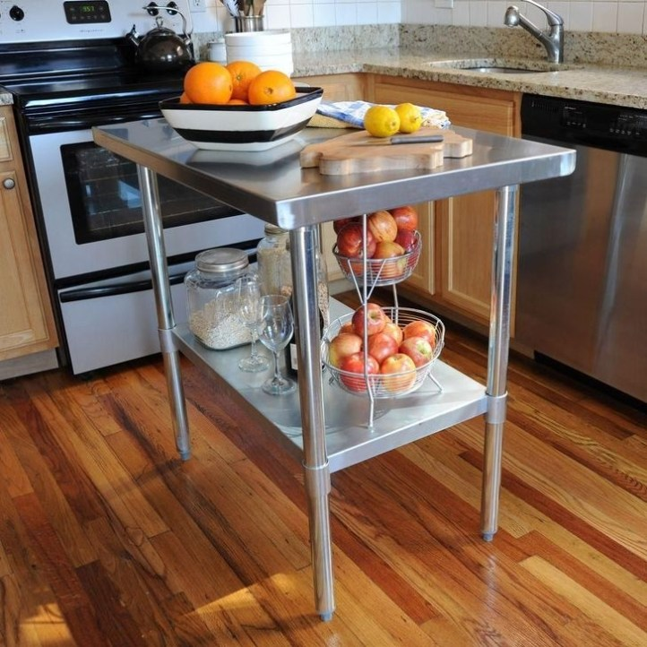Stunning Stainless Steel Kitchen Tables Ideas40