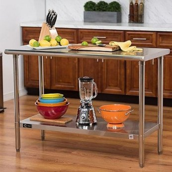 Stunning Stainless Steel Kitchen Tables Ideas41
