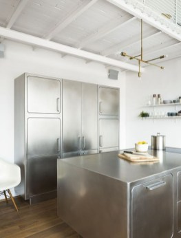 Stunning Stainless Steel Kitchen Tables Ideas43