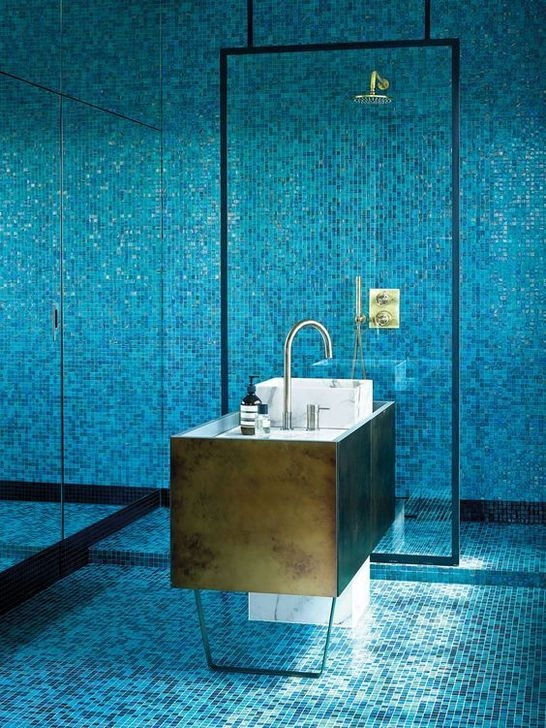 Catchy Bathroom Mosaics Design Ideas 06