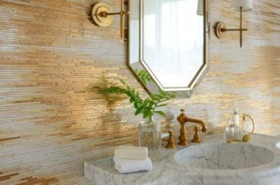 Catchy Bathroom Mosaics Design Ideas 39