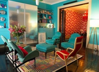 Enchanting Turquoise Living Room Ideas 12