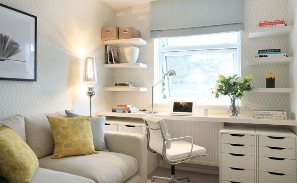 Minimalist Small Space Ideas For Bedroom And Home Office 08
