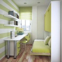 Minimalist Small Space Ideas For Bedroom And Home Office 40