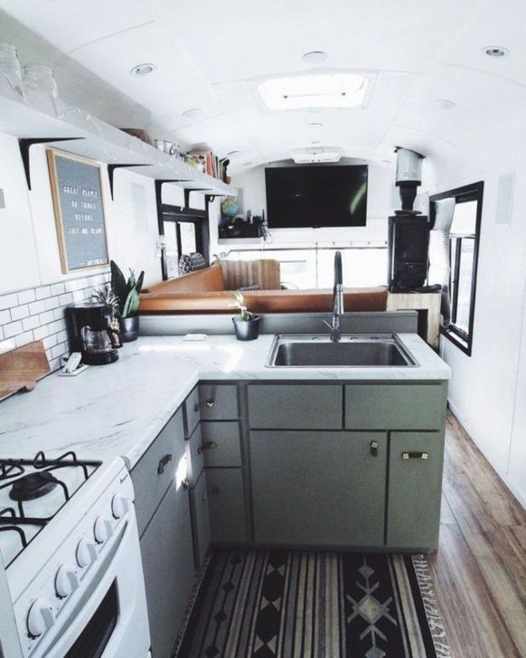 Splendid Rv Camper Remodel Ideas 18